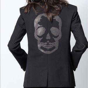 NWT Zadig & Voltaire Vedy Skull ST Blazer.
